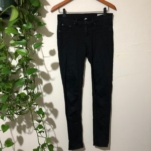 Rag & Bone Black Jegging Jean Black Plush Size 27